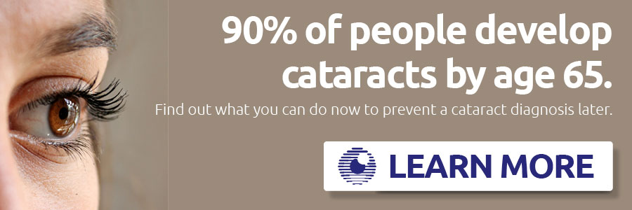 90% of people develop cataracts by age 65